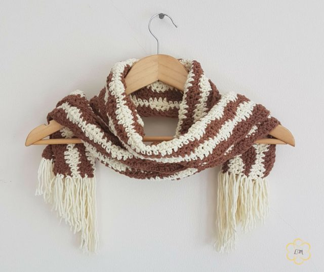 River Gem crochet scarf