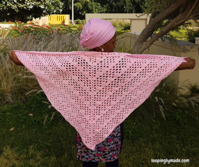Dixie Charm crochet shawl